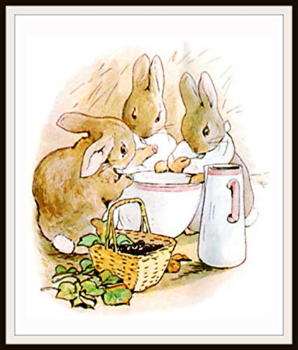 Amazon.com: Beatrix Potter Flopsy Bunnies, Vintage Art Print.