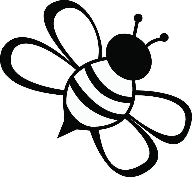 Bumble Bee Clipart Black And White.