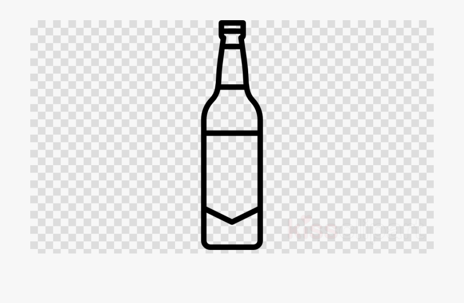 Beer Bottle Clipart Black And White.