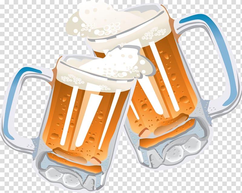 Beer mugs illustration, Beer Glasses Free Beer , beer.