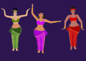 Belly Dancers Clip Art at Clker.com.