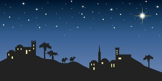 Background night bethlehem Royalty Free Stock Photos.