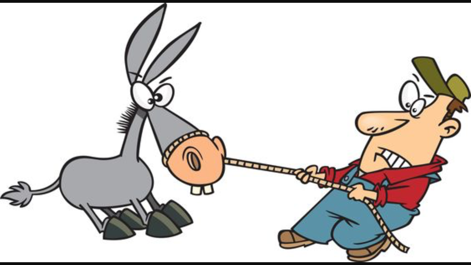 Showing post & media for Donkey man cartoon.