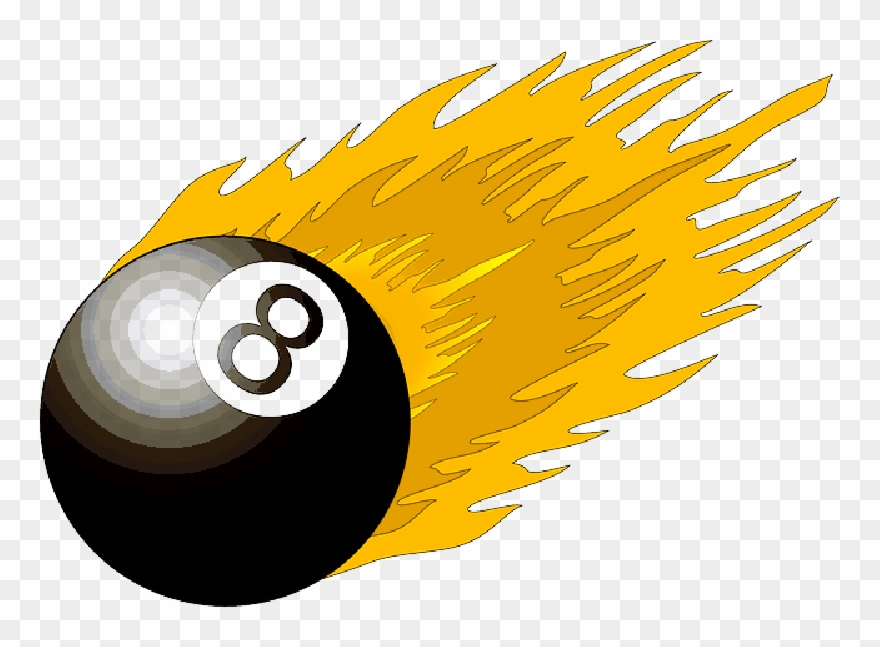 Black, Table, Fire, Cartoon, Ball, Flame, Free, Pool Clipart.