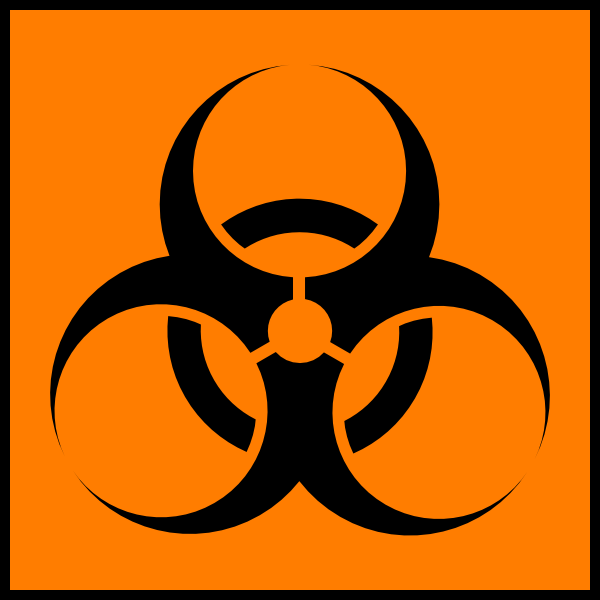 Biohazard Orange clip art (109898) Free SVG Download / 4 Vector.