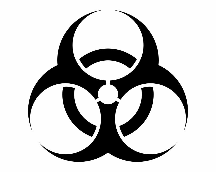 Biohazard Sign Clip Art Free Vector Biological Hazard.