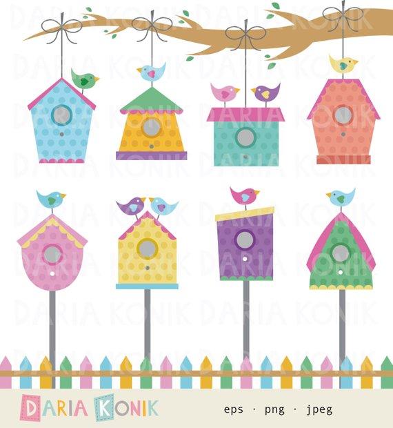 Birdhouse clipart colorful, Birdhouse colorful Transparent.