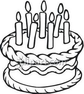 Black And White Birthday Clip Art.