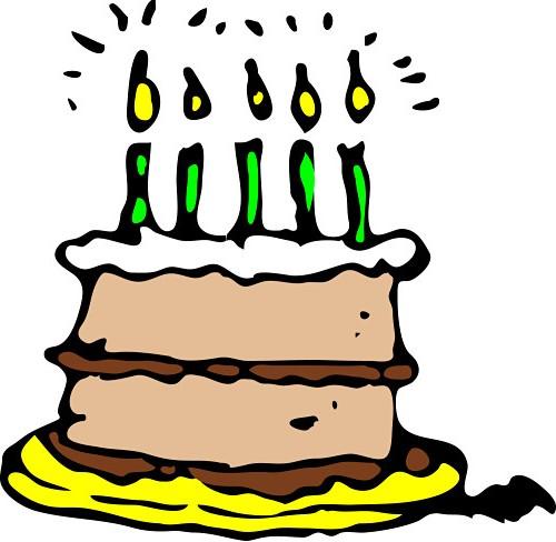 Happy Birthday Boy Cake Clipart.