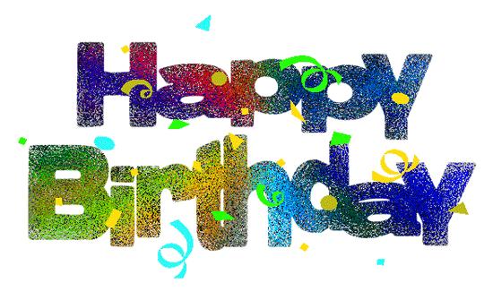 Happy Birthday Glitter Clip Art.