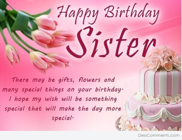 Free Clipart Happy Birthday Sister.