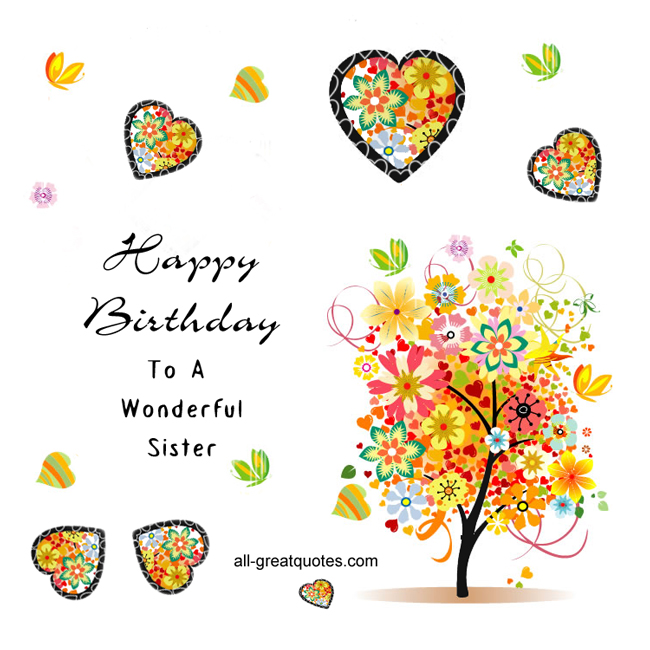 free birthday clipart for sister - Clipground Happy Birth Day Images For Sister