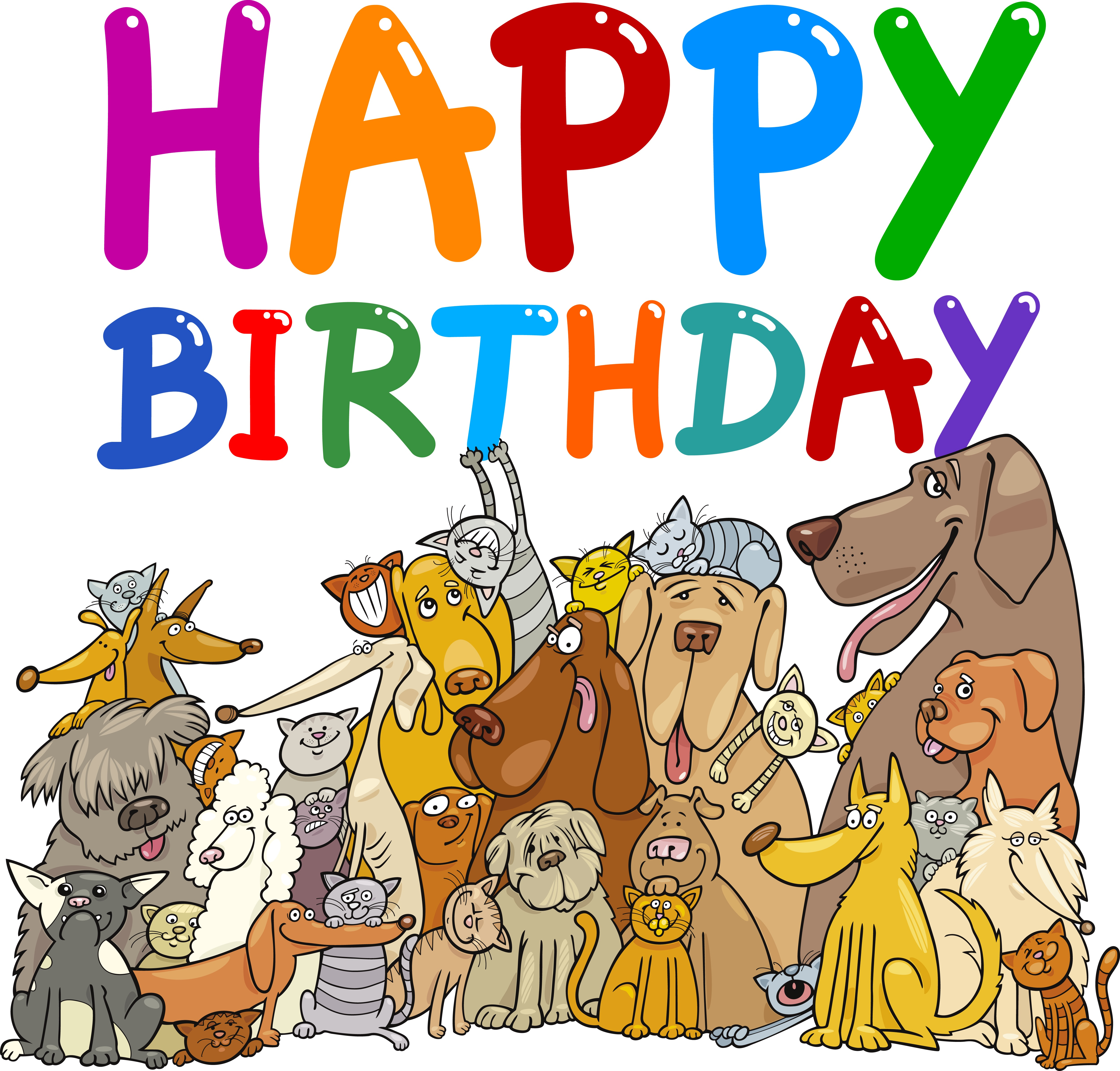 Happy Birthday Clipart With Dogs.