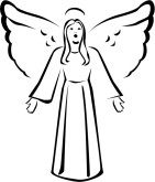 Black And White Angels Clipart.