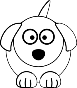 Black And White Dog Clip Art at Clker.com.