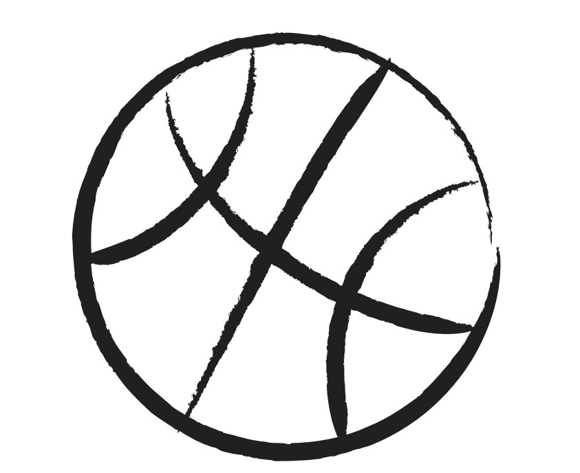Basketball black and white free basketball clipart black and white.