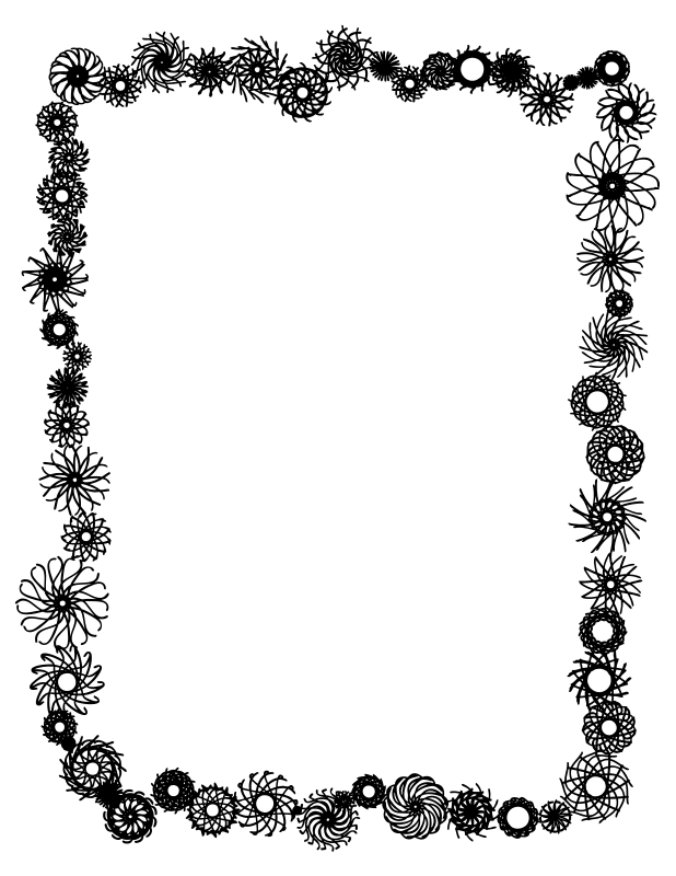 Free Black And White Page Borders, Download Free Clip Art.