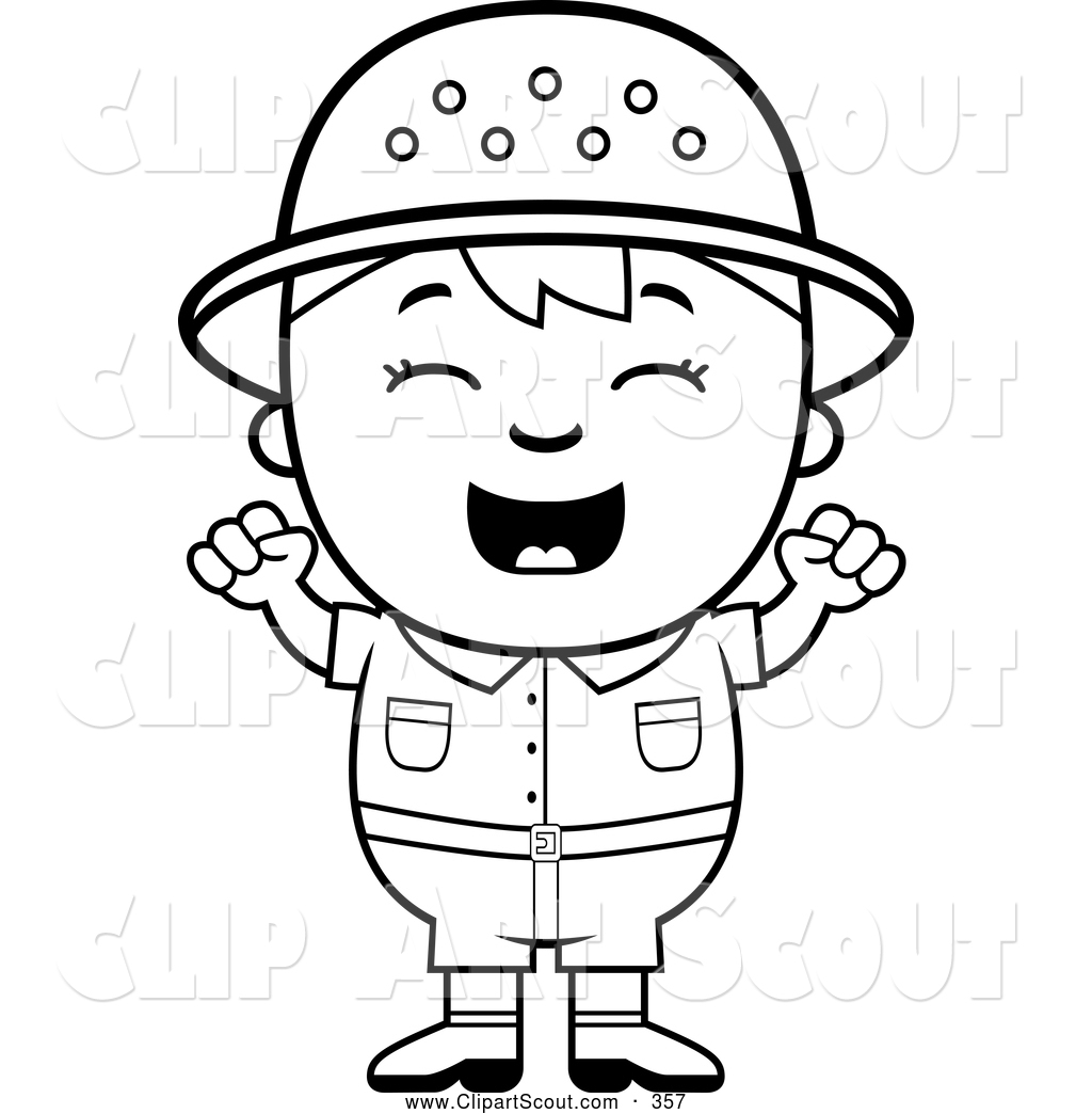 Free Boy Scout Chef Clipart Black And White.