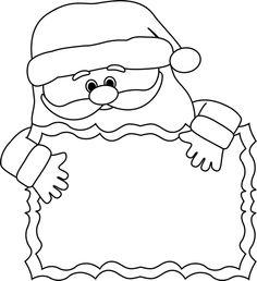 Black And White Christmas Clipart.Santa Claus Frame Clipart Black And White 20 Free Cliparts