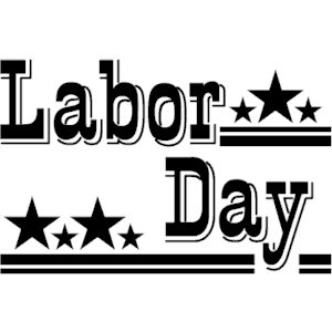 Free Labor Day Black And White Clipart.