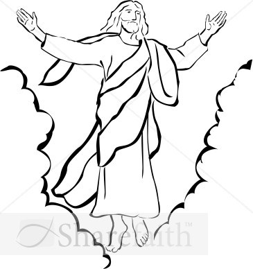 Free black and white clipart of jesus 3 » Clipart Portal.