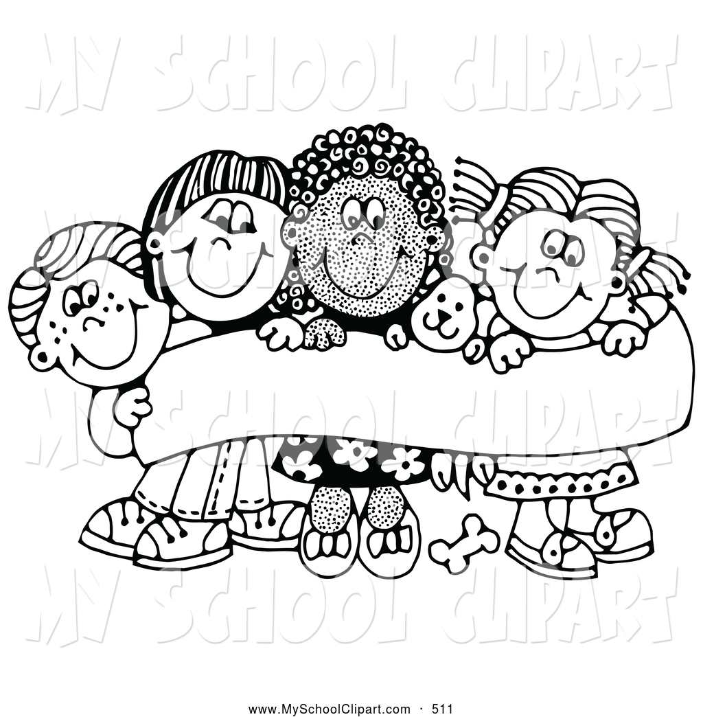 Free School Clipart Black And White.
