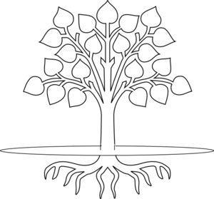 Tree Clip Art Black and White.