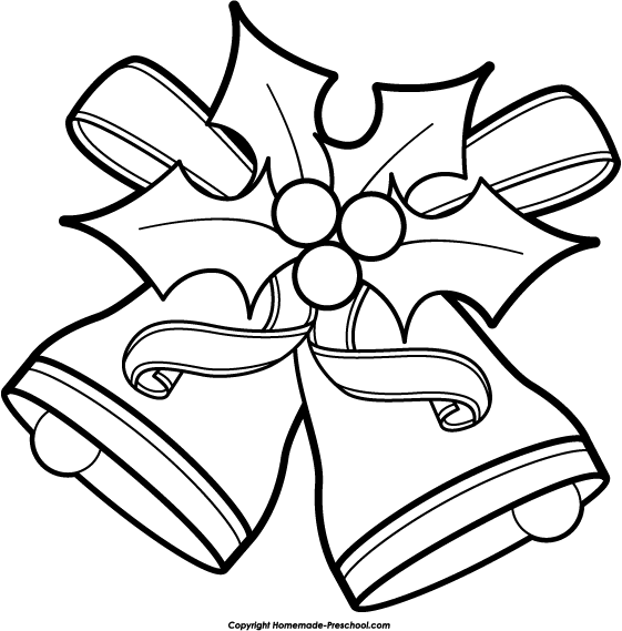 Xmas Clipart Black And White.