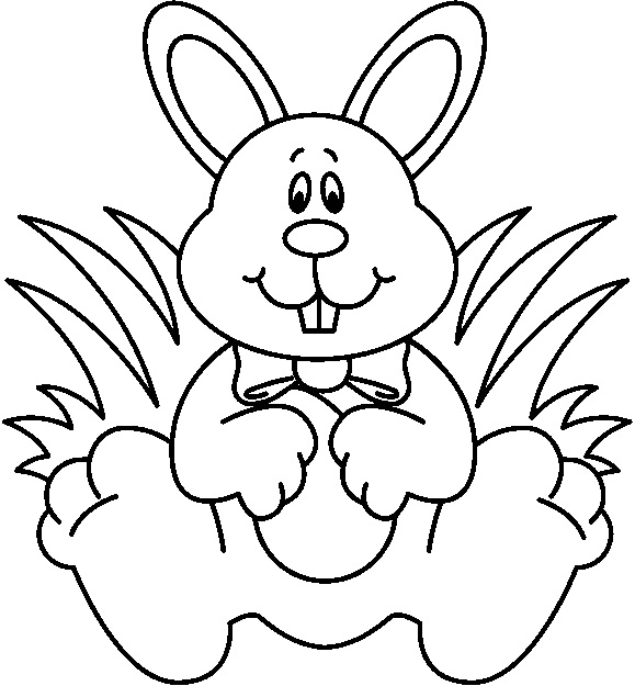 Easter Bunny Clipart Black And White.