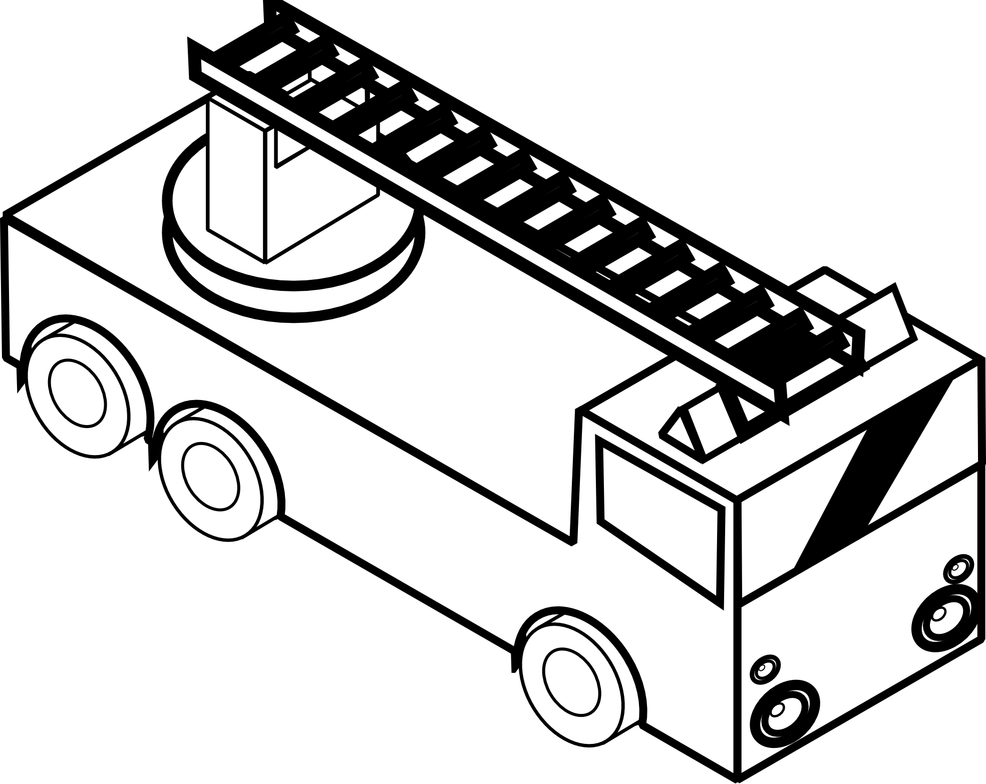 free black and white fire truck clip art