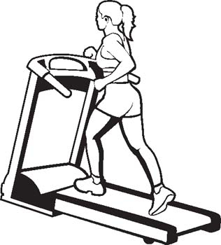 Fitness Black And White Clipart#1986374.