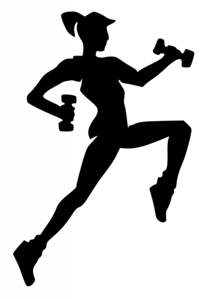 Free Black And White Fitness Clipart.