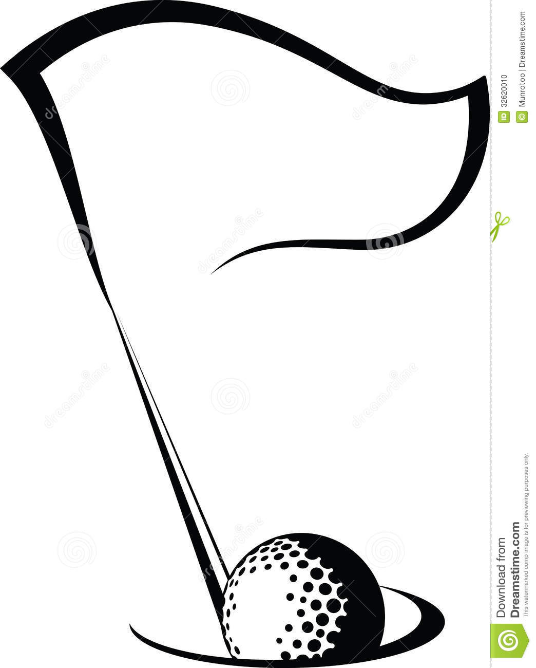 Golf Clipart Black And White.