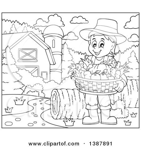 Free black and white harvest clipart 5 » Clipart Portal.