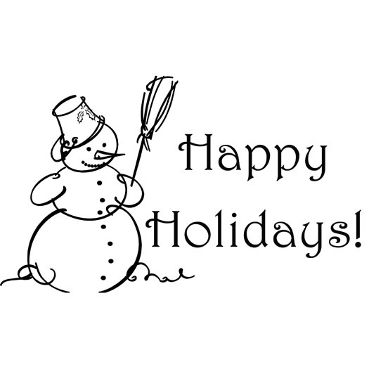 Free Happy Holidays Black And White Clipart, Download Free.