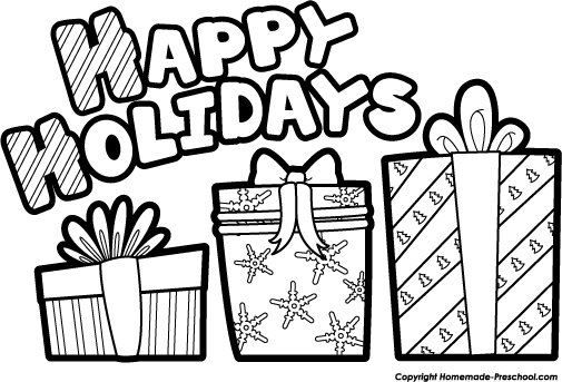 Free Holiday Clipart Black And White, Download Free Clip Art.