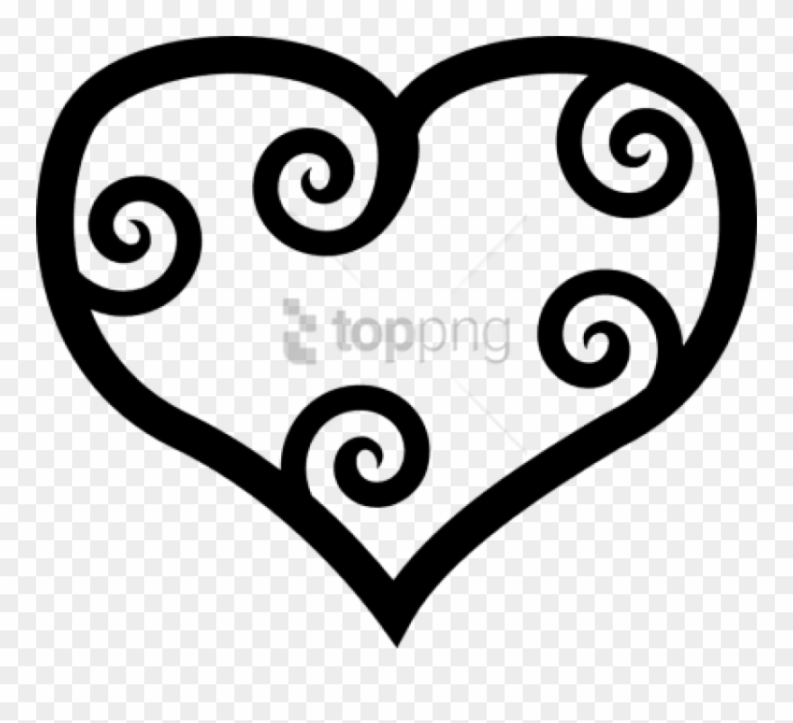 Free Png Heart Black And White Heartblack And White.