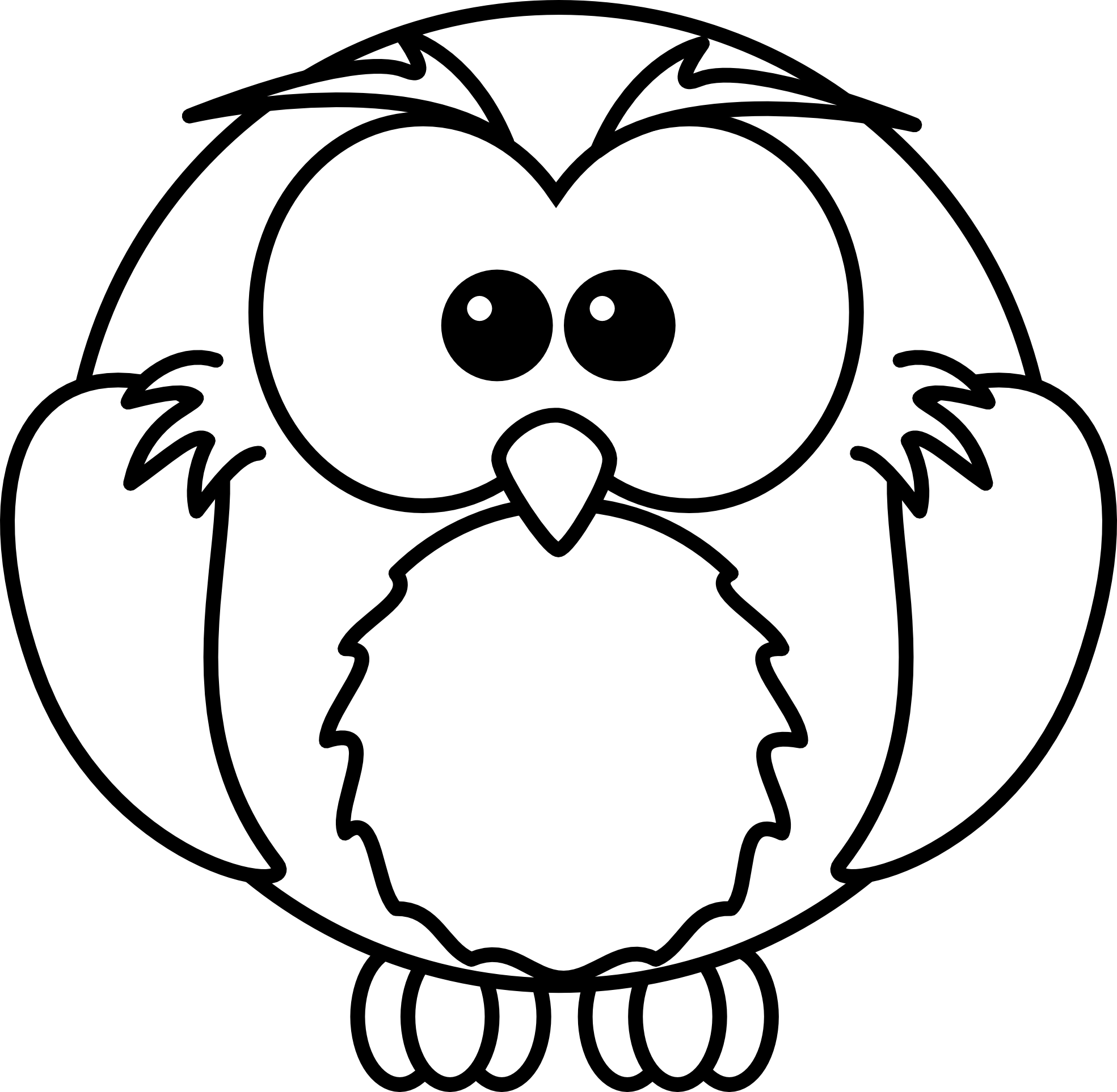 Best Owl Clipart Black and White #28298.