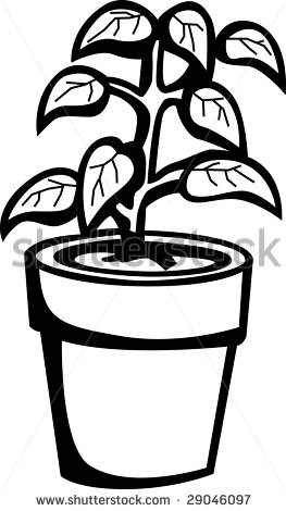 free black and white plant clip art - Clipground