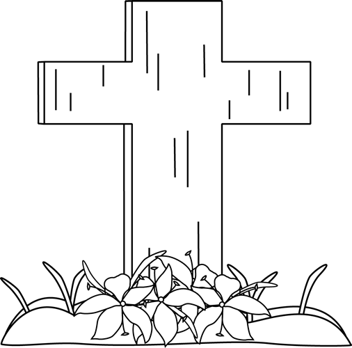 13 Black And White Christian Easter Graphics Images.