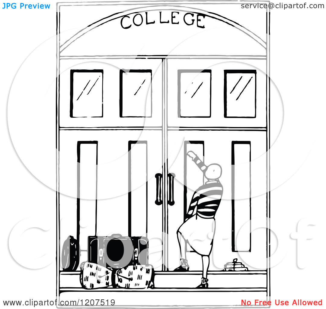 College Clipart Black And White.