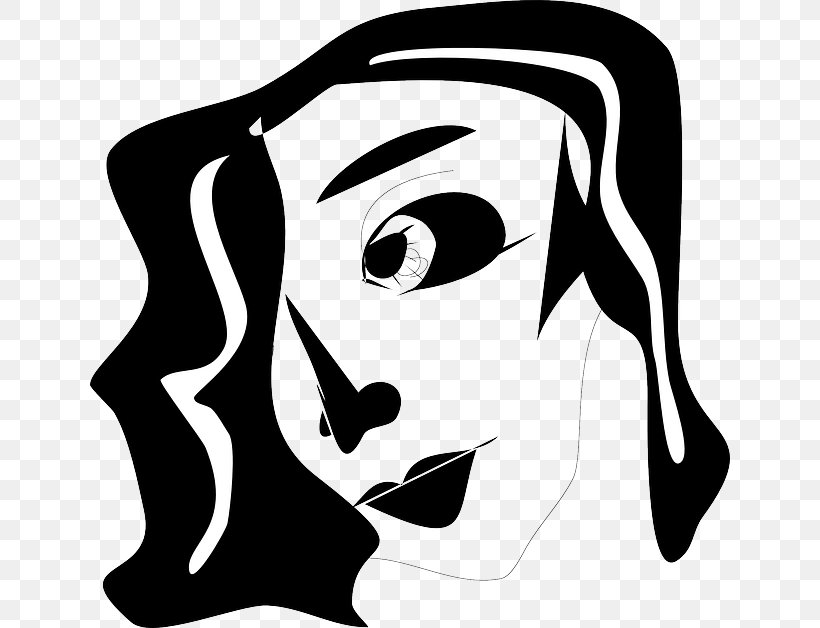 Black And White Silhouette Clip Art, PNG, 640x628px, Black.