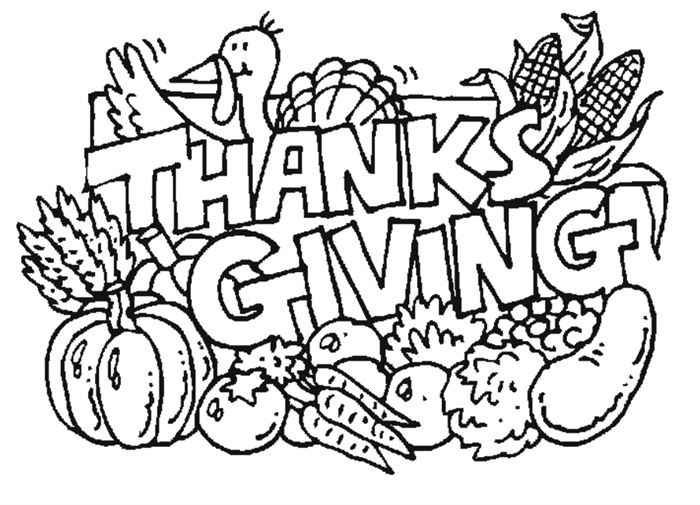 Clipart Black And White Thanksgiving.