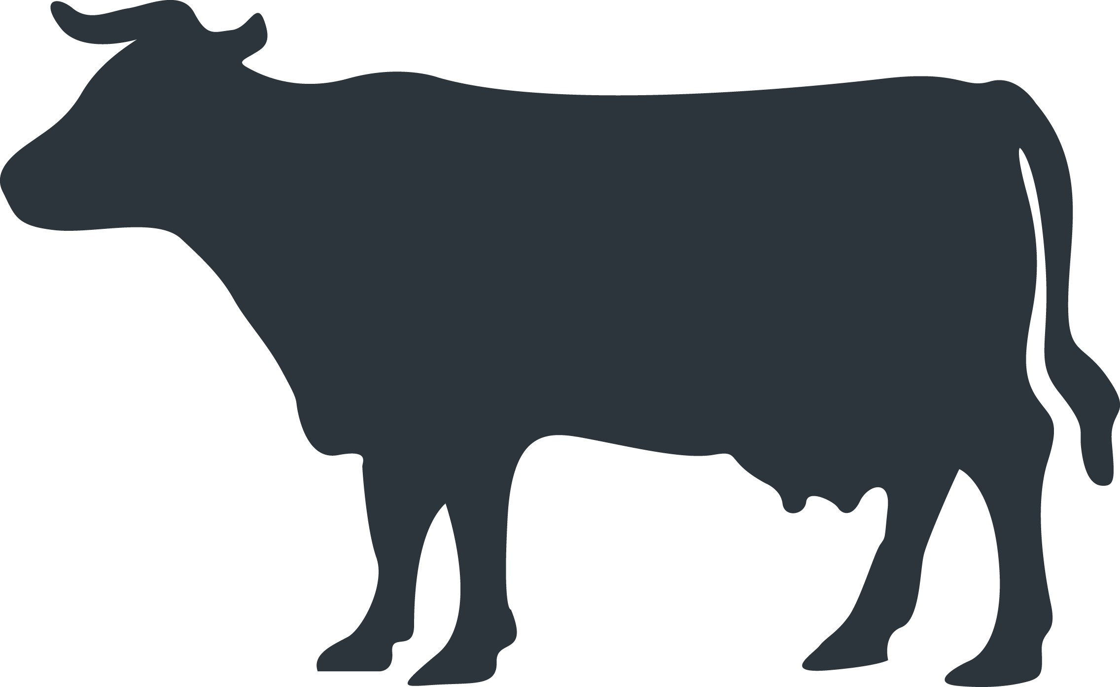 Angus cattle Silhouette Clip art.