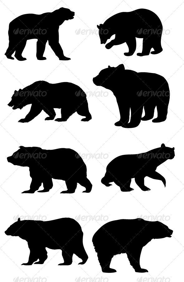 Bear Silhouettes.