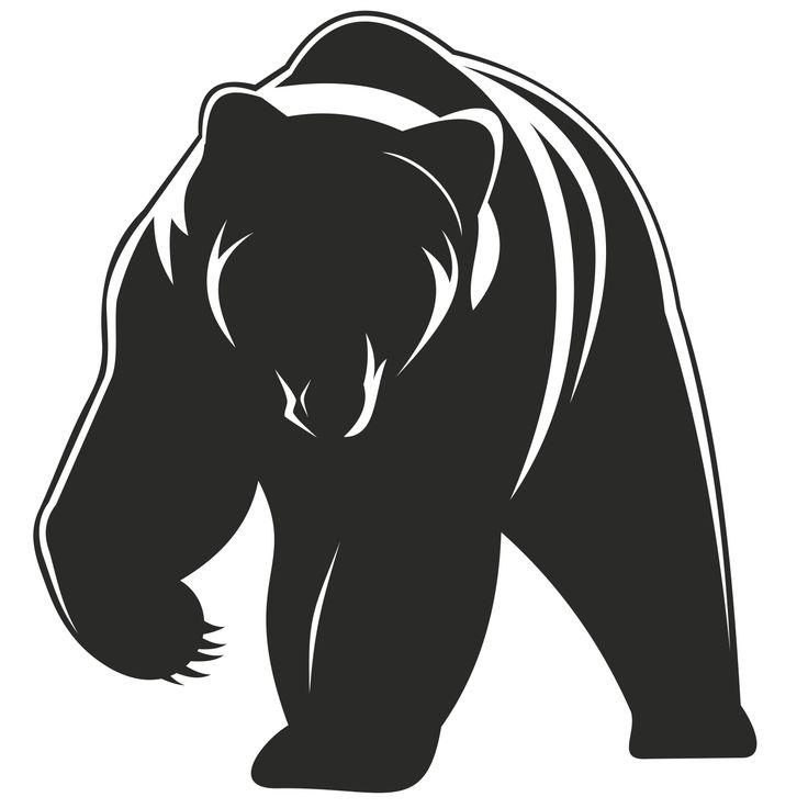 free black bear and cub silhouette clipart free 20 free ...