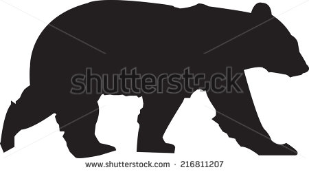 bear silhouette stock images royalty