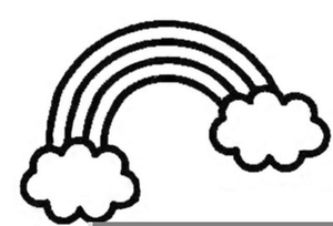 Rainbow Clipart Free Black And White.