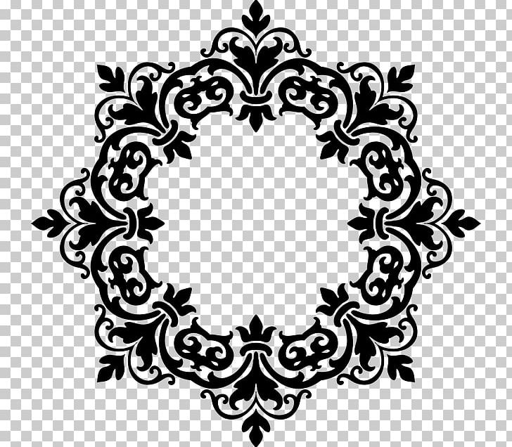 Frames Damask Ornament PNG, Clipart, Abstract, Black And White.
