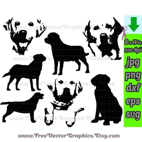 Labrador dog svg vector files clip art lab silhouette yellow.